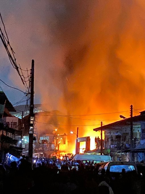 Fire Engulfs Popular Lagos Market