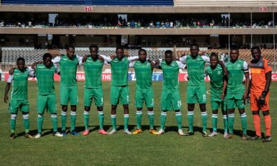 Players of Kenya's Gor Mahia poses before a CAF Confereration cup game - AFP