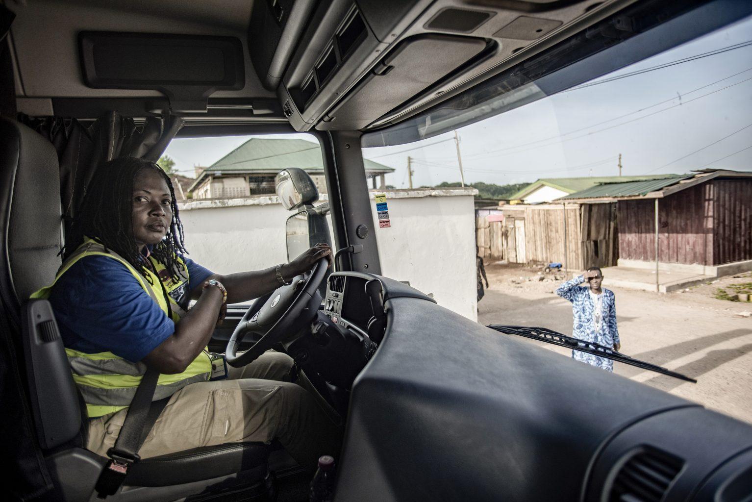Ghana female truck drivers