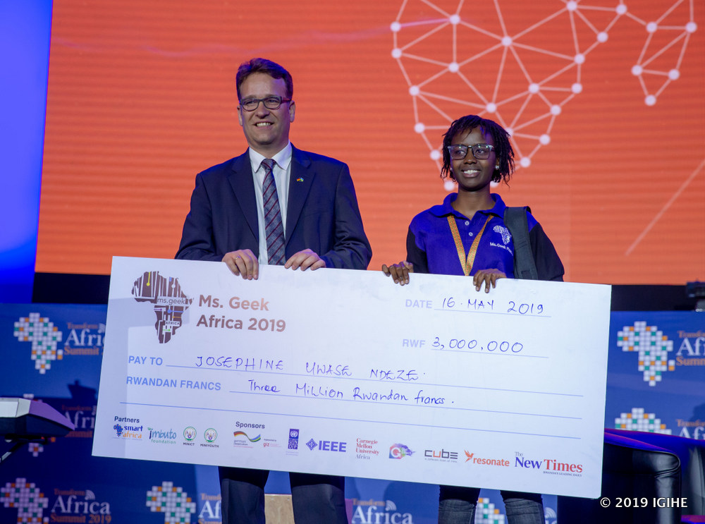 DR Congo's Josephine Uwase Ndeze wins Miss Geek Africa competition