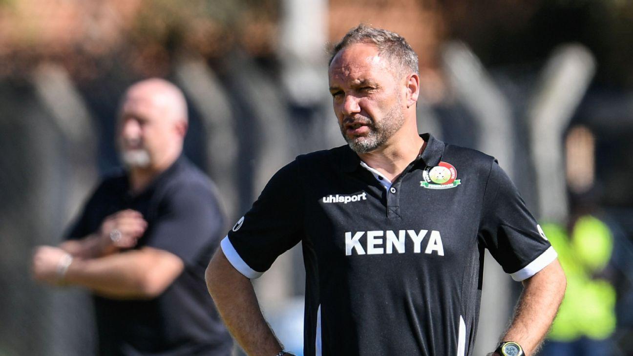 Harambee stars coach Sebastien Migne