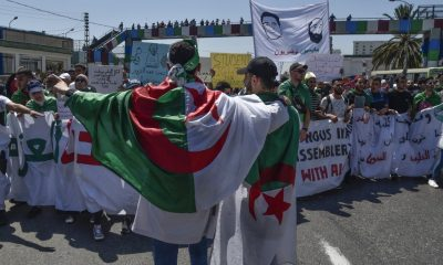 Students in Algeria students protest against army chief
