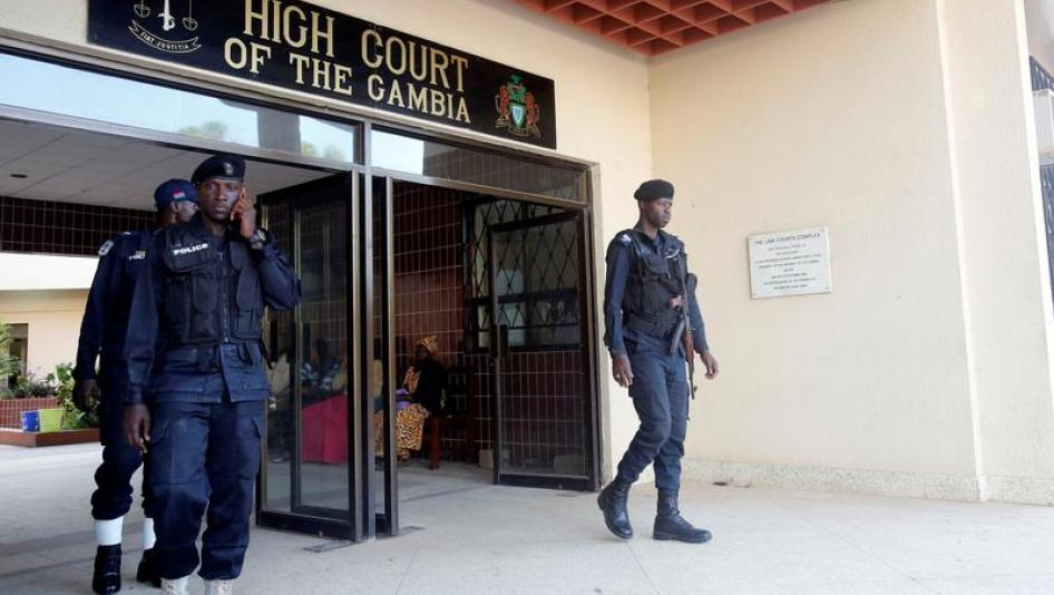 Gambia jails eight soldiers over coup plot