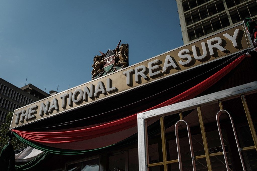 Kenya budget: Kenya's National Treasury building is pictured in Nairobi
