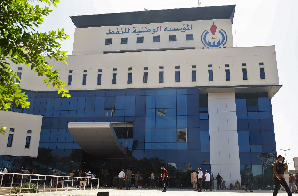 Libya's National Oil Company in the capital Tripoli. The Oil company warns against shutdown as it it will escalate conflict