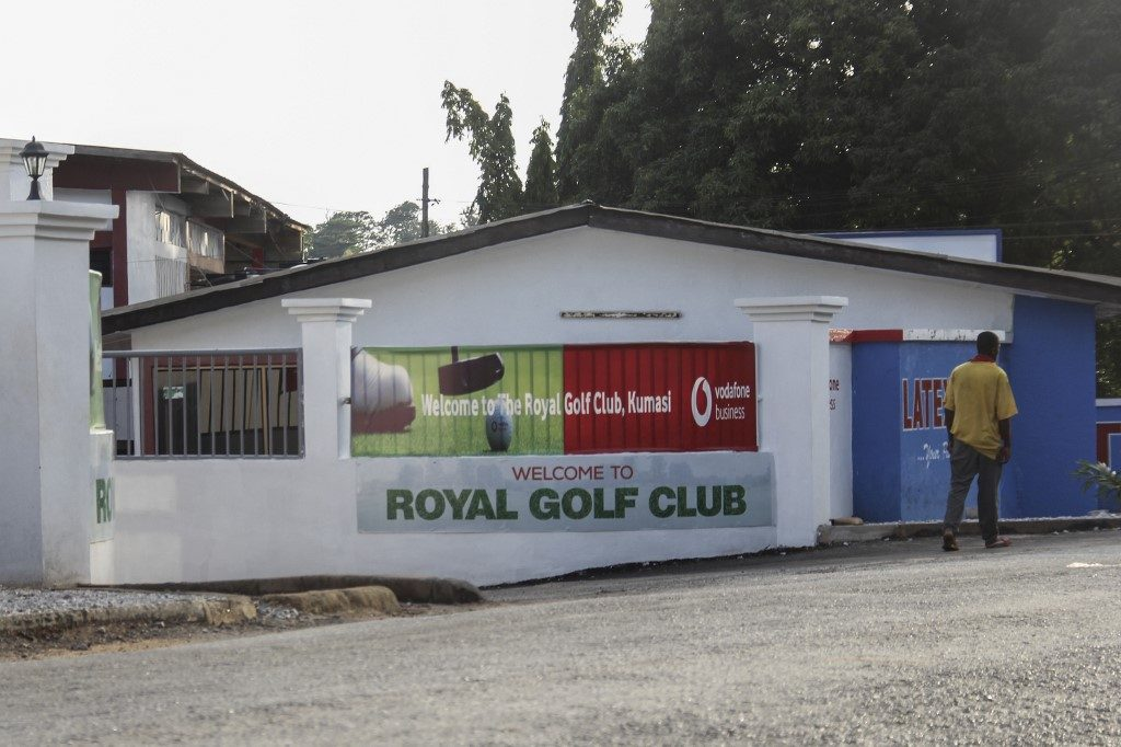 main entrance to the Royal Golf Club in Kumasi on June 7, 2019 where two Canadians women, 19 and 20 years old, were kidnapped