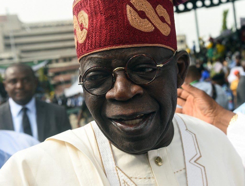 Buhari starts second term: Bola Tinubu, one of the national leaders of the ruling All Progressives Congress (APC) party, arrives to attend Nigeria's national Democracy Day celebrations in Abuja,