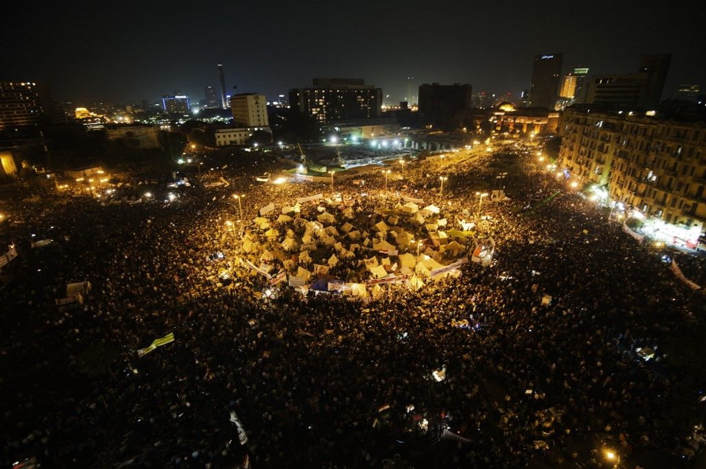 Tens of thousands people take part in a mass rally against a decree by President Mohamed Morsi granting himself broad powers. News of Morsi's death are making the rounds in the media