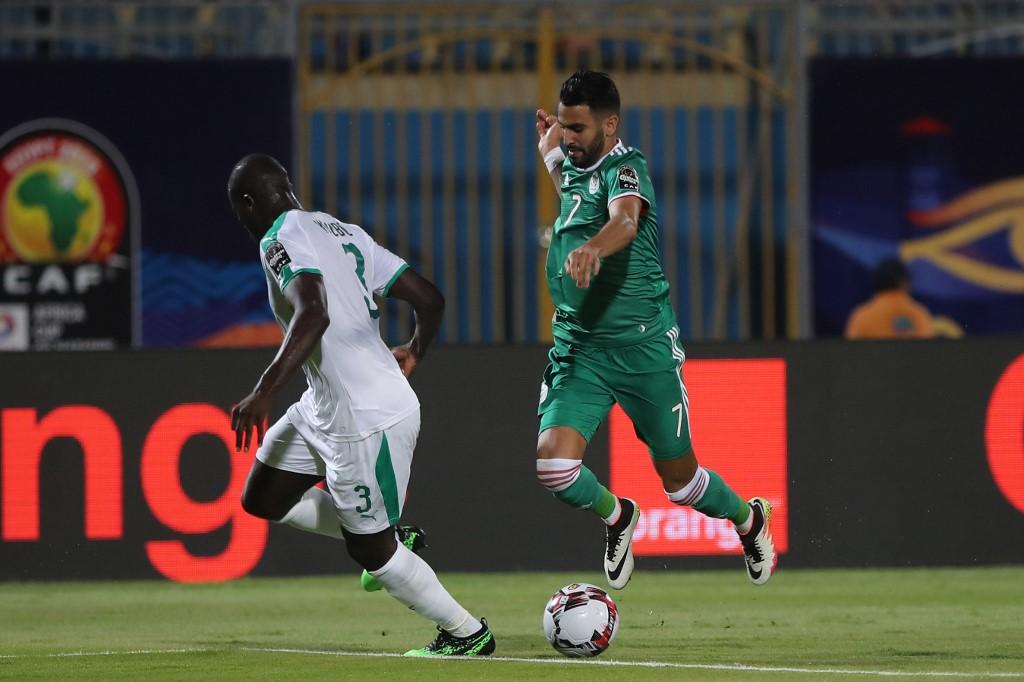 Algeria's Riyad Mahrez beat Mane's Senegal in the 2019 AFCON