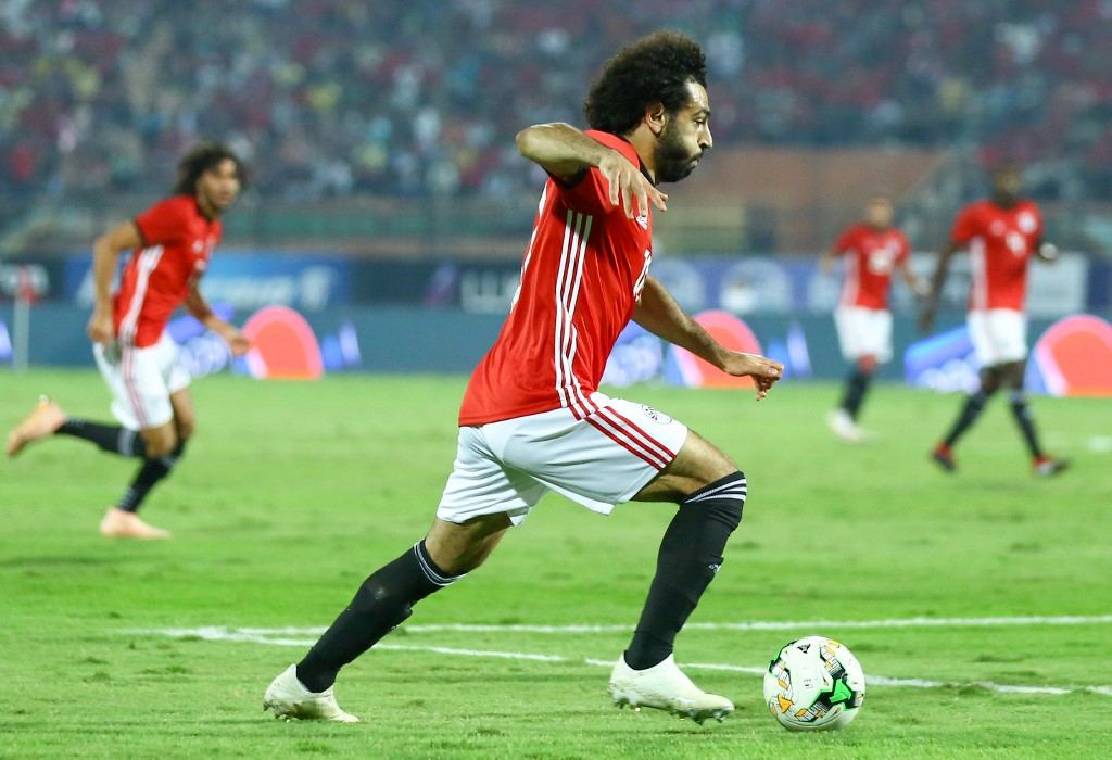 Mohamed Salah of Egypt's Control the ball as Egypt defeats Guinea 3-1