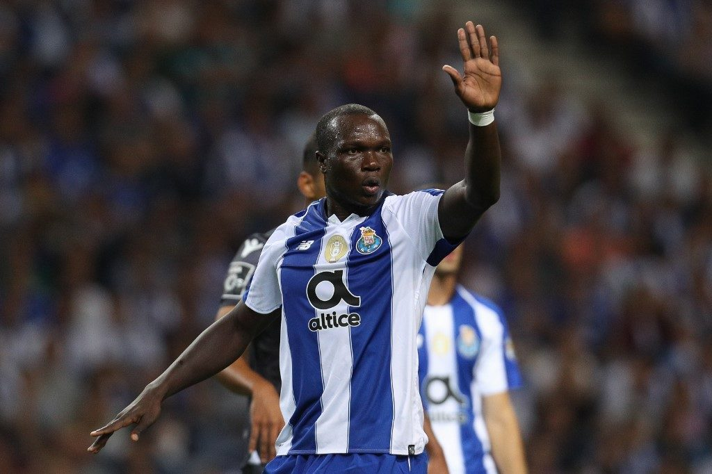 Porto's Cameroonian forward Vincent Aboubakar, who misses out on the AFCON 2019 squad for Cameroon reacts during a Premier league match