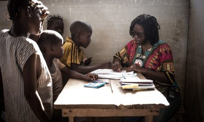 Sketch therapy: These Central African kids are drawing to recover from PTSD