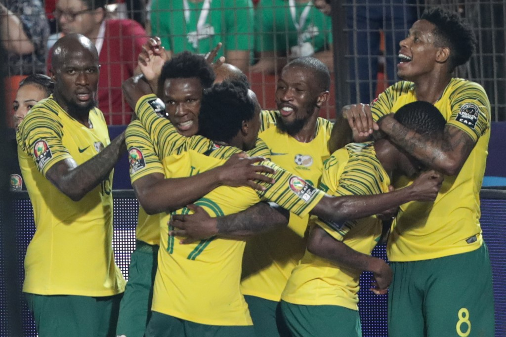 South Africa's injury-time goal seals win over Africa Cup of Nations hosts Egypt