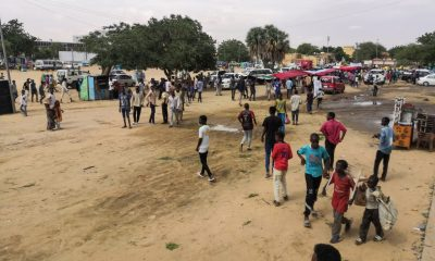 Angry Sudanese queue for bread in Al-Obeid where students killed