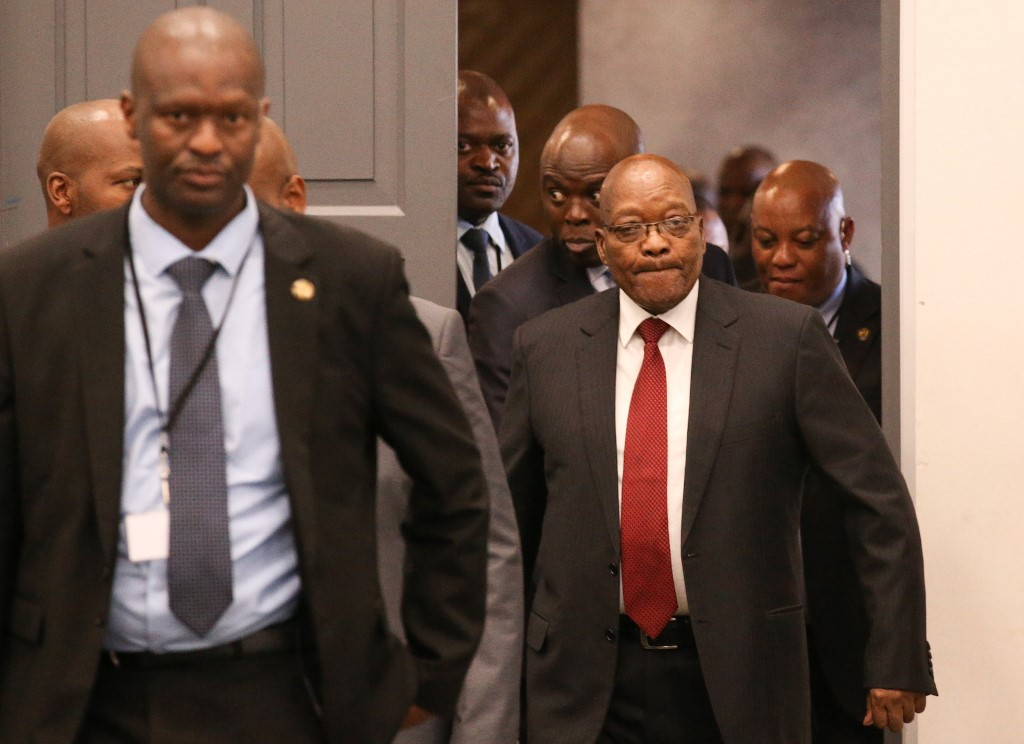 Former South African President Zuma withdraws from graft inquiry