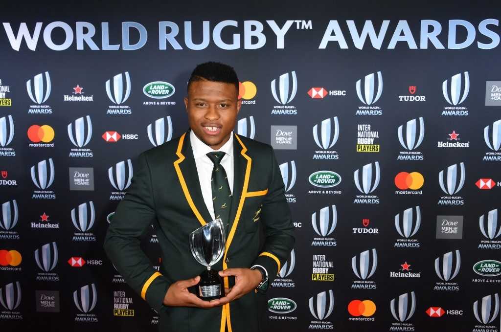 World Rugby Breakthrough Player of the Year award Aphiwe Dyantyi fails drug test