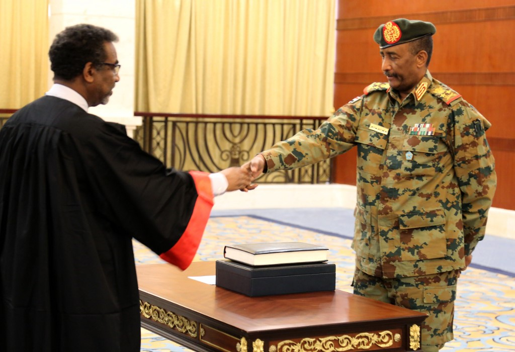 General Burhan sworn-in as President of Sudan's new sovereign council