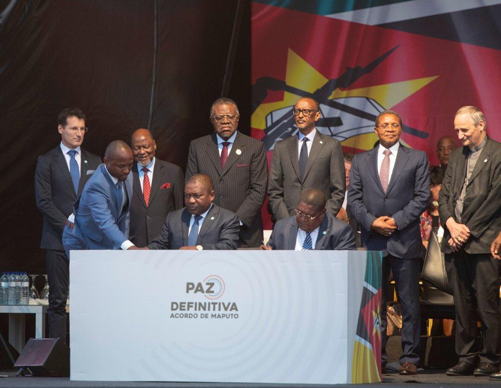 Mozambican government, Renamo rebel leader ink peace deal