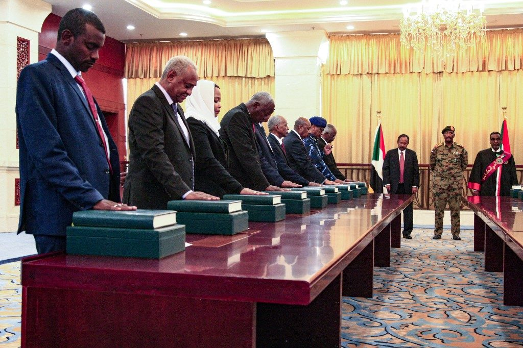 Members of the Sudanese cabinet