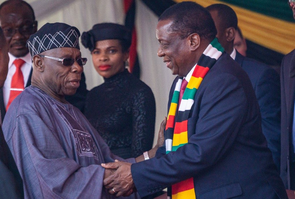 African leaders pay last respects to Mugabe at state funeral