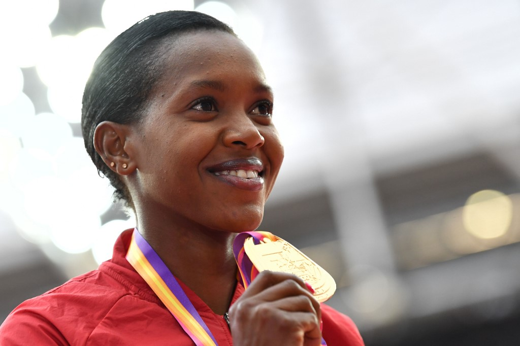 Kenyan World Olympic champion Kipyegon prepares to defend title in Doha