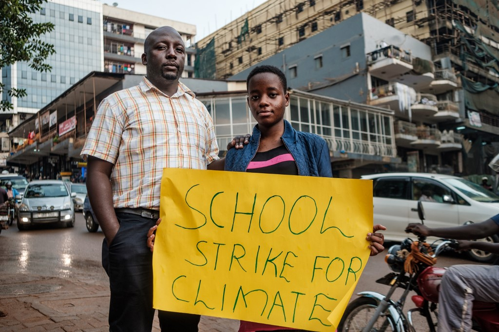 Uganda's teenage environmental activist calls for urgent climate change action