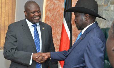 President Salva Kiir and rebel leader Riek Machar pledge to power-sharing deal