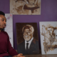 Ekene Ngige makes art with a blend of coffee