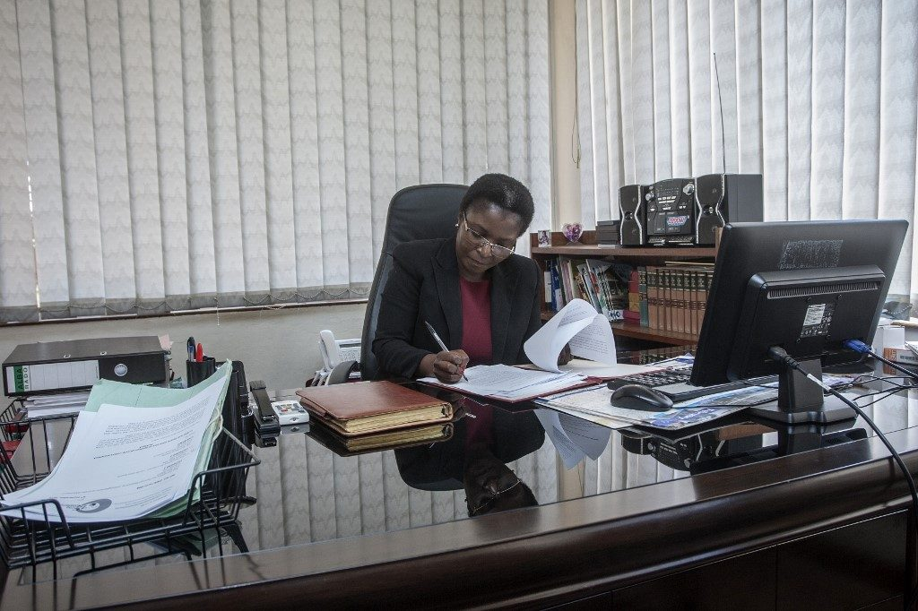 Malawi's Ombudsman (Public Protector) Martha Chizuma poses during an interview