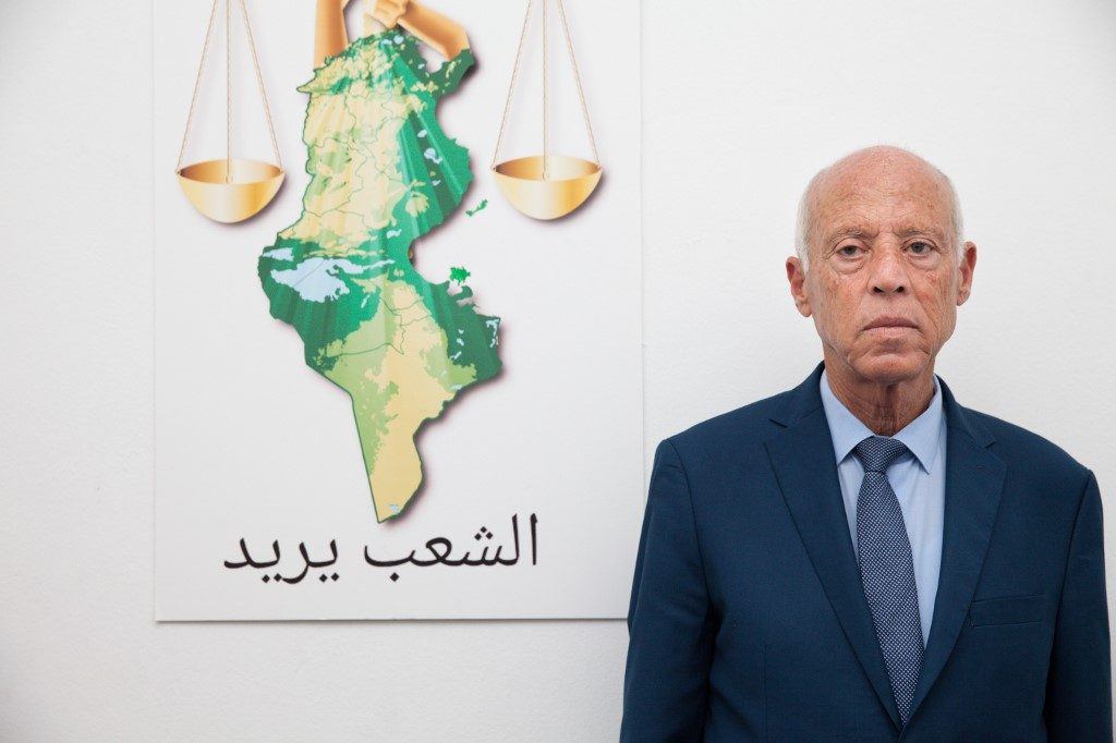 Tunisia's outsider Kais Saied projected to win presidential election