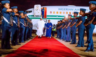 Nigerian President Muhammadu Buhari arrives South Africa on state visit