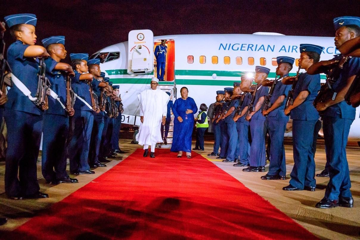 Nigerian President Muhammadu Buhari arrives South Africa on state visit
