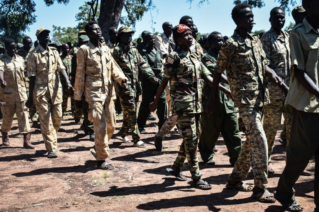 Members of the South Sudan Opposition Alliance (SSOA), a coalition of rebel groups