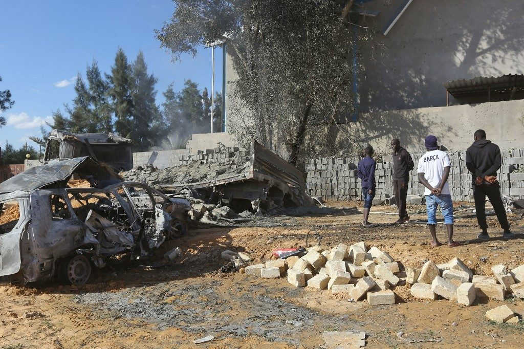 Libya airstrike leaves about 7 dead, 30 wounded