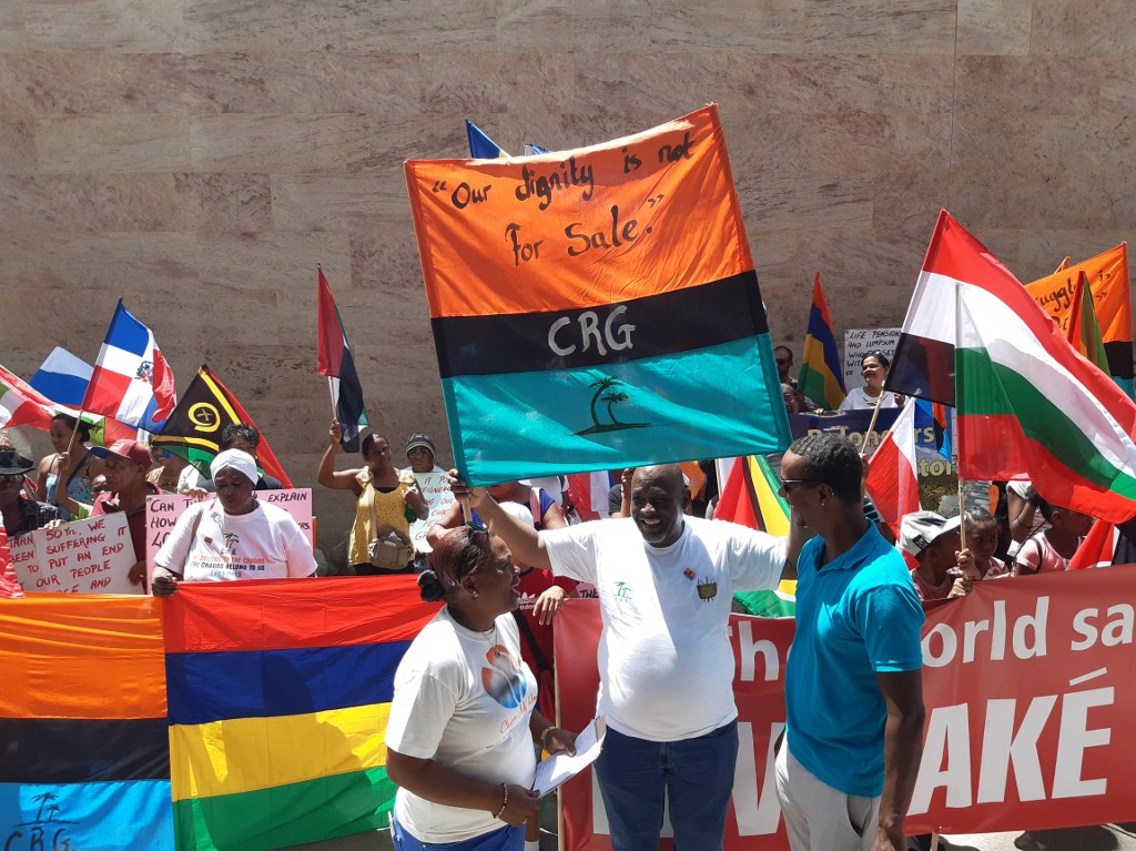 """Chagos Islanders protest against UK's refusal to leave and end """"colonial rule"""""""