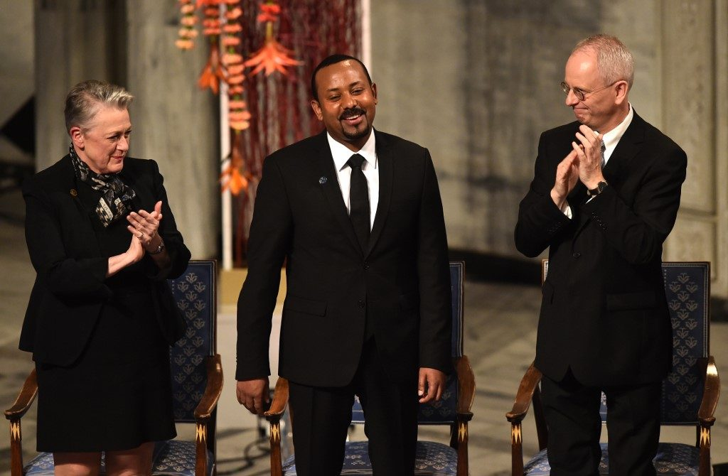 Prime Minister Abiy Ahmed collects Nobel Peace Prize