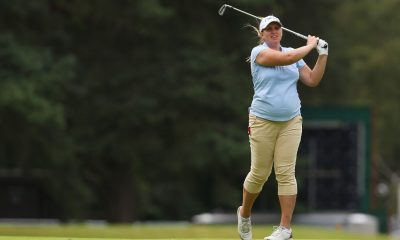England's Liz Young plays at the Kenya Ladies Open tournament
