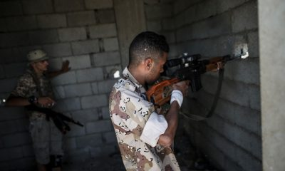 A fighter of Libya's UN-backed Government of National Accord (GNA)