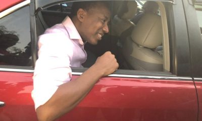 Sowore, after being released on Bail