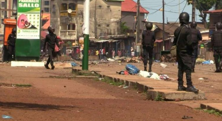 Guinea post election clash with police