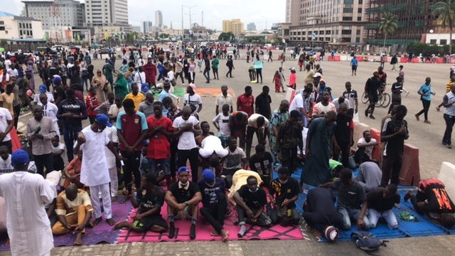 Jumat Prayers during the ongoing #endsars Protest