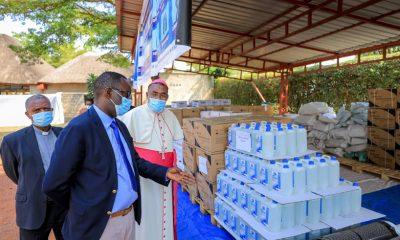 Caritas donates PPEs to Rwanda's Health Ministry.
